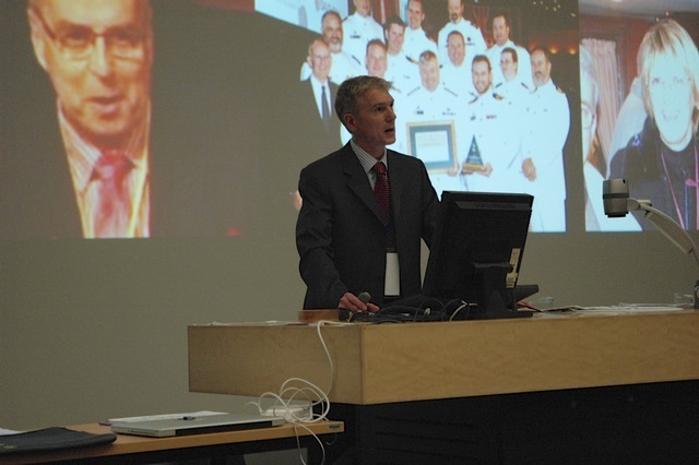 Dr Robin Mann presenting at the World Business Capability Congress